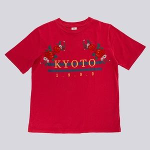 URBAN OUTFITTERS Red Kyoto Shirt